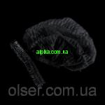 Одноразовая  шапочка Черный цвет на двойной резинке 100 шт.