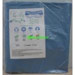 Чехол на кушетку масловодонипроницаемый (универ. с резинкой) плотность 45 г/м2 голубого цвета.