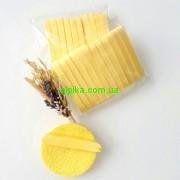Спонж косметический прессованный(вискозный) упаковка 12шт