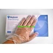 Перчатки одноразовые  виниловые   SAFETOUCH MEDICOM, нестерильные, неопудренные .Размер L упаковка 100 шт