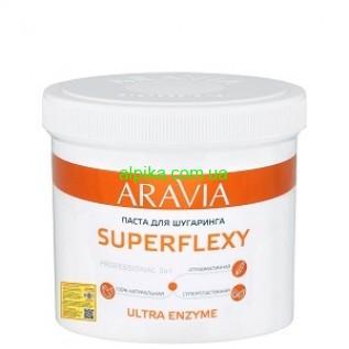 Паста для шугаринга SUPERFLEXY Ultra Enzyme, 750 г, ARAVIA Professional