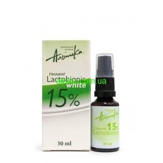 Мультикислотный химический  пилинг LACTOBIONIC WHITE 15%,pH 2,7  80мл Альпика