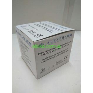 Игла 23G (0.6x30 mm) для чистка лица / Alexpharm / 1 шт.