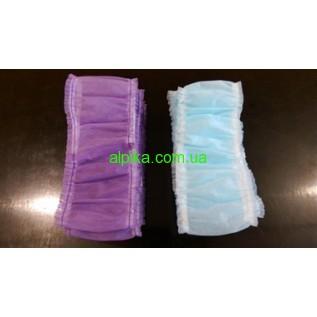Повязка одноразовая на двойной резинке 10 штук в упаковке разные цвета