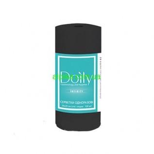 Салфетки безворсовые  Black  в рулоне Doily® INFINITY 20х20 см (100 шт/рул) из спанлейса 55 г/м2