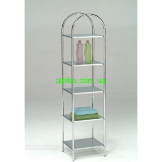 Металическая этажерка напольная на 5 полок