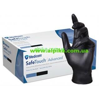 Перчатки SAFETOUCH BLACK  MEDICOM нитриловые черные/без пудры /размер XS,S,М