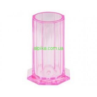 Подставка-стакан пластиковая розовая