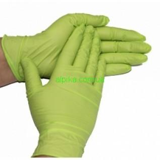 Перчатки нитриловые, без пудры, смотровые Зеленые Netrilex (100шт./уп.) S размер